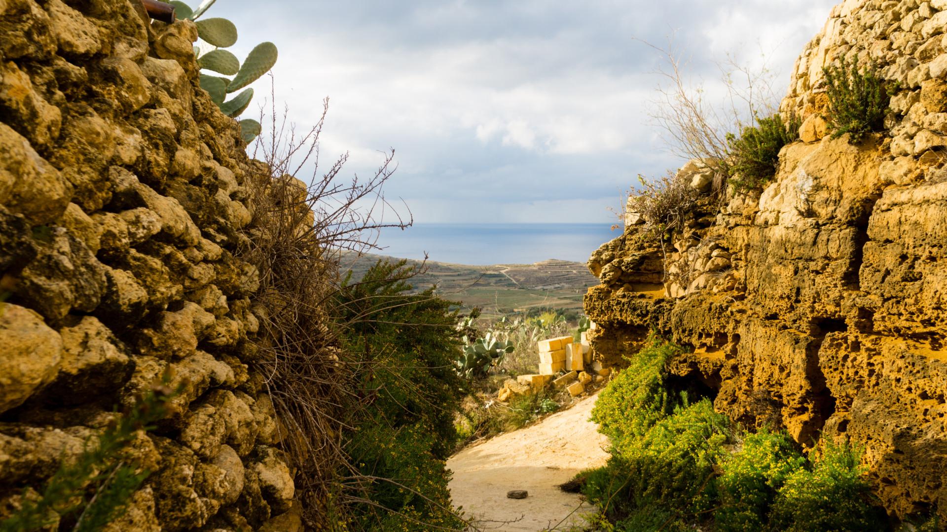 Uitzicht over het prachtige platteland van Gozo, Malta