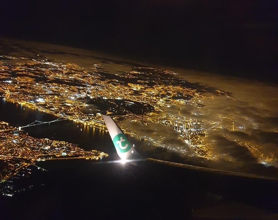 Terugvlucht van Lissabon naar Amsterdam met Transavia