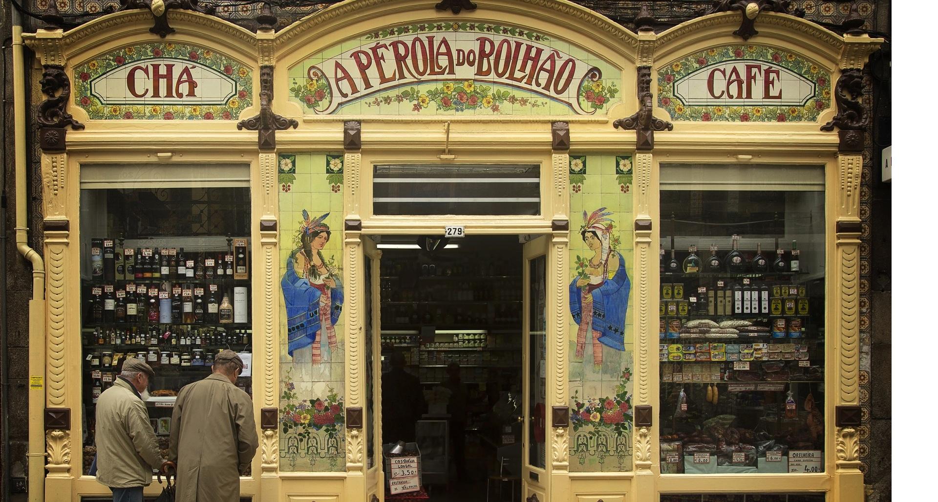 Oude Mannen en Winkel, Porto Portugal