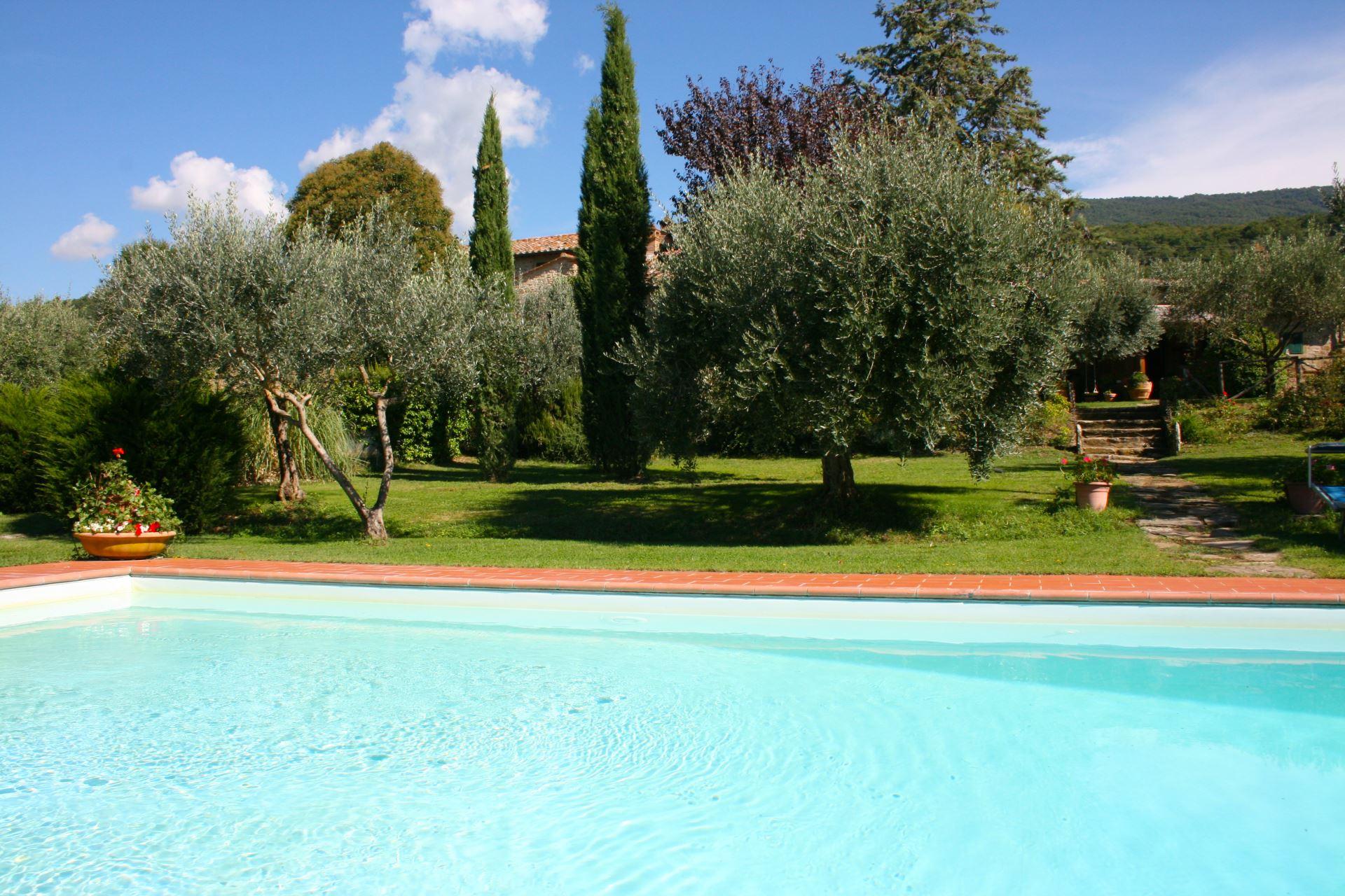Agriturismo Ca di Maestro Toscane Italie zwembad en tuin