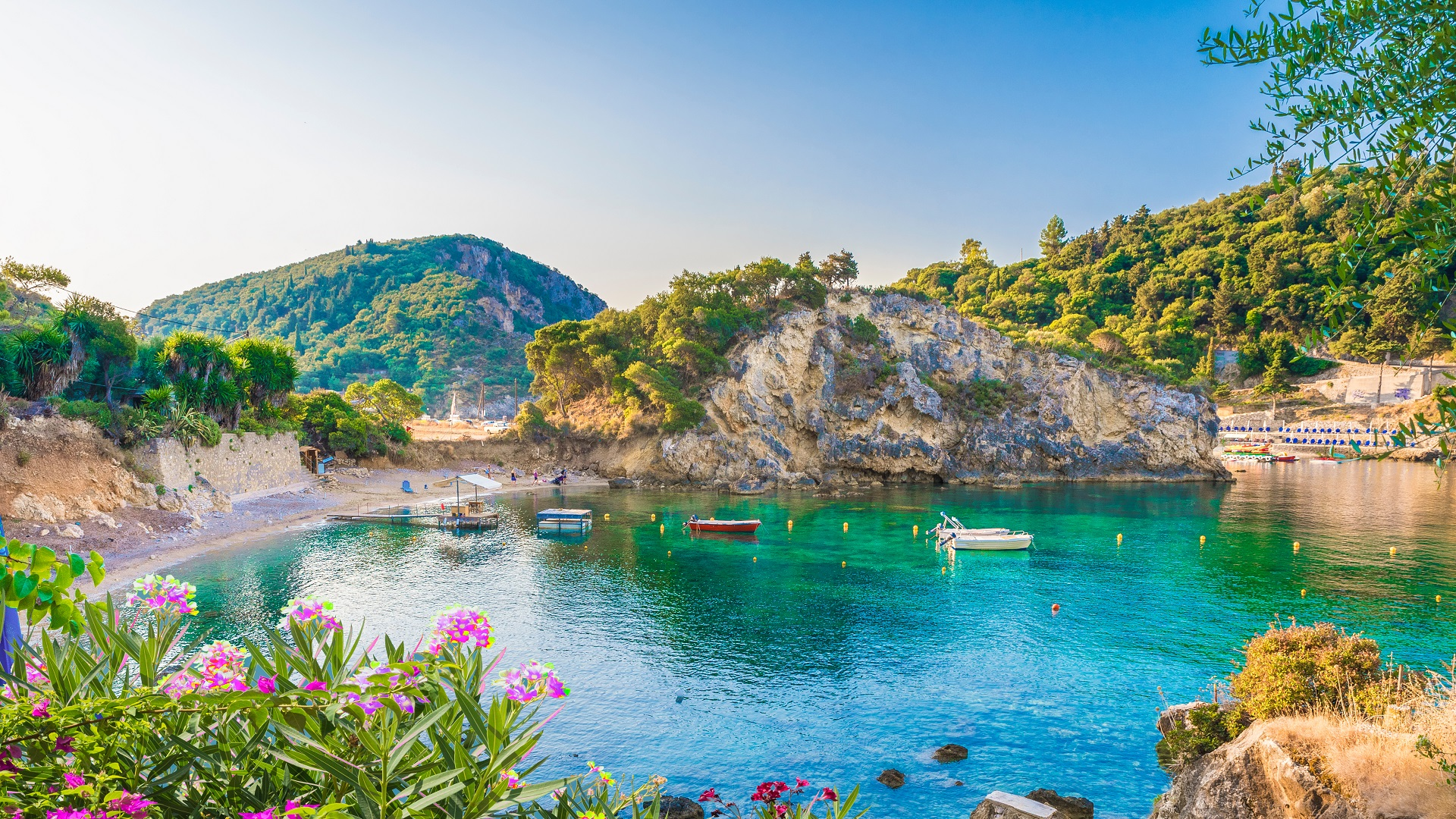 Paleokastritsa baai in Corfu