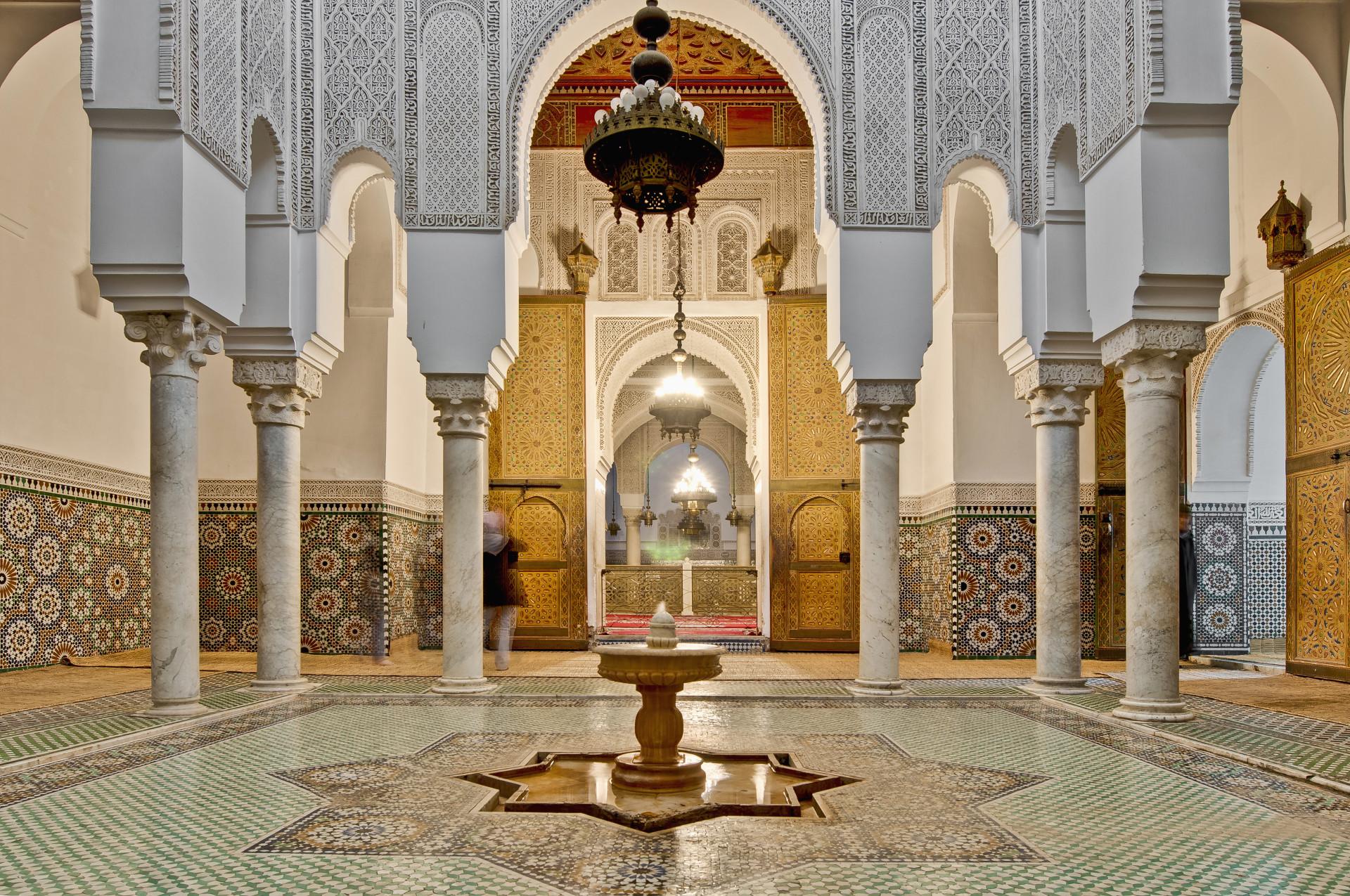 Moulay Ismail Mausoleum interior, Meknes, Marokko