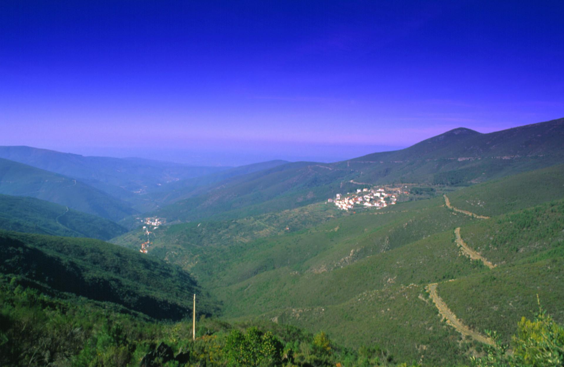 Het landschap rond Arganil, Centraal Portugal