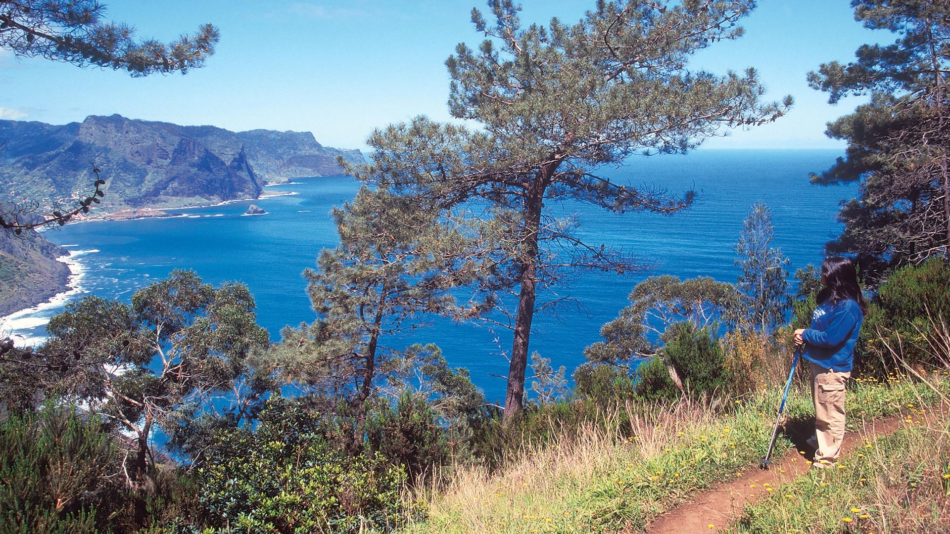 Wandelen bij Porto da Cruz met mooi uitzicht, Madeira, Portugal