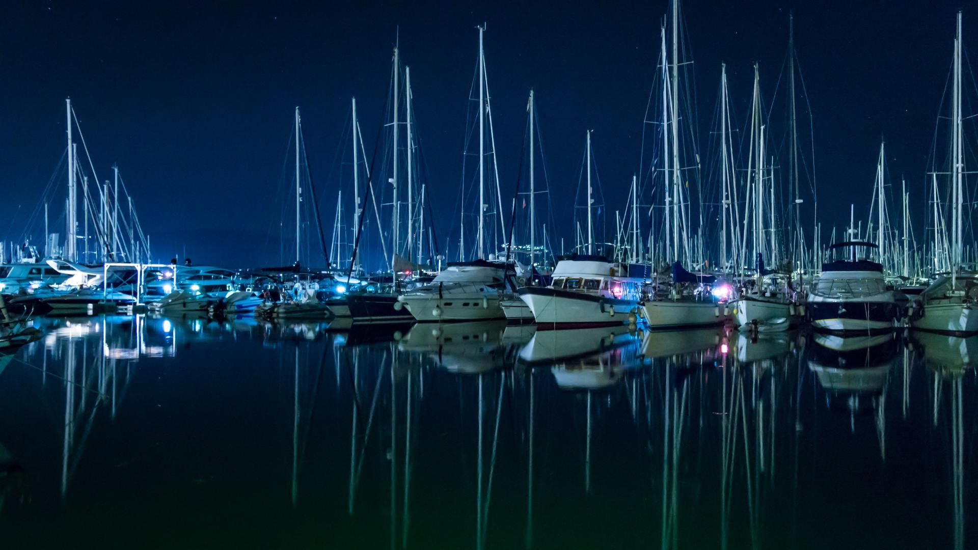 Gouvia marina, jachthaven, boten, Corfu, Griekenland