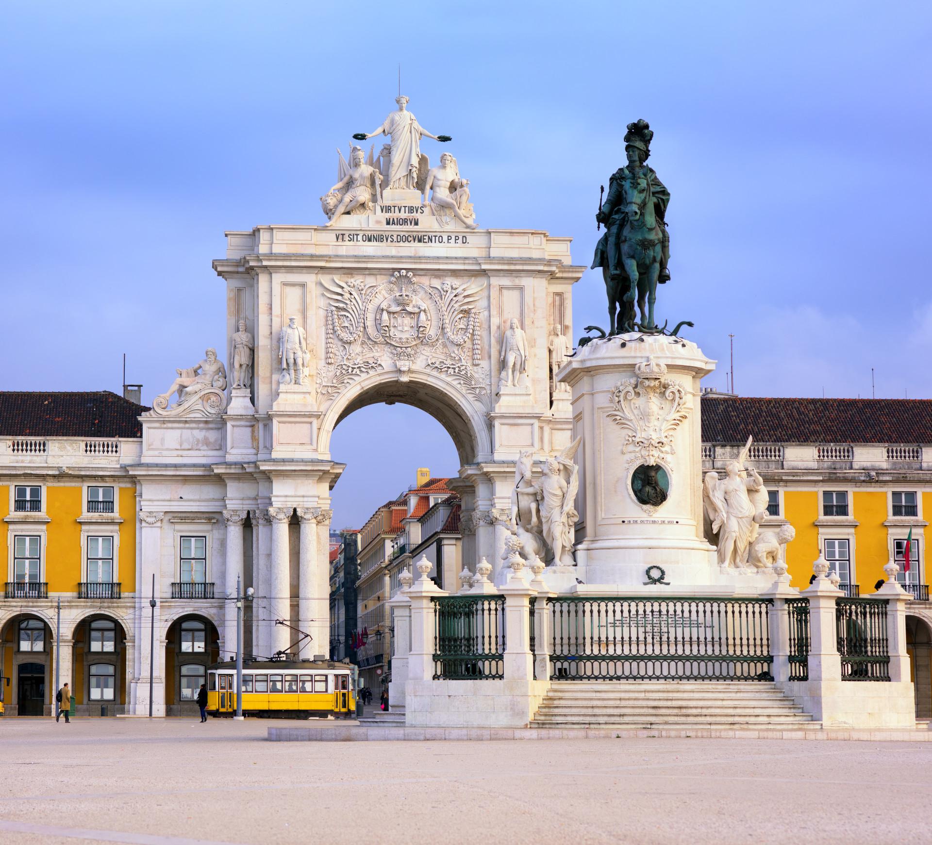 Het Praça do Comercio in Lissabon