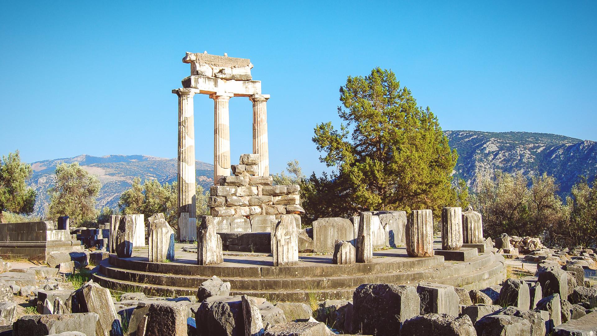 Delphi, Peleopnnesos, Griekenland