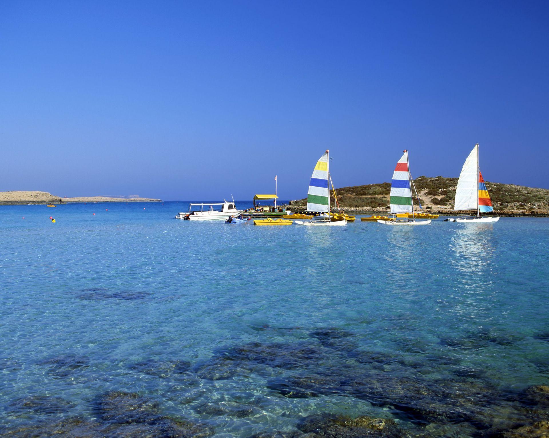 De prachtige zee bij Ayia Napa