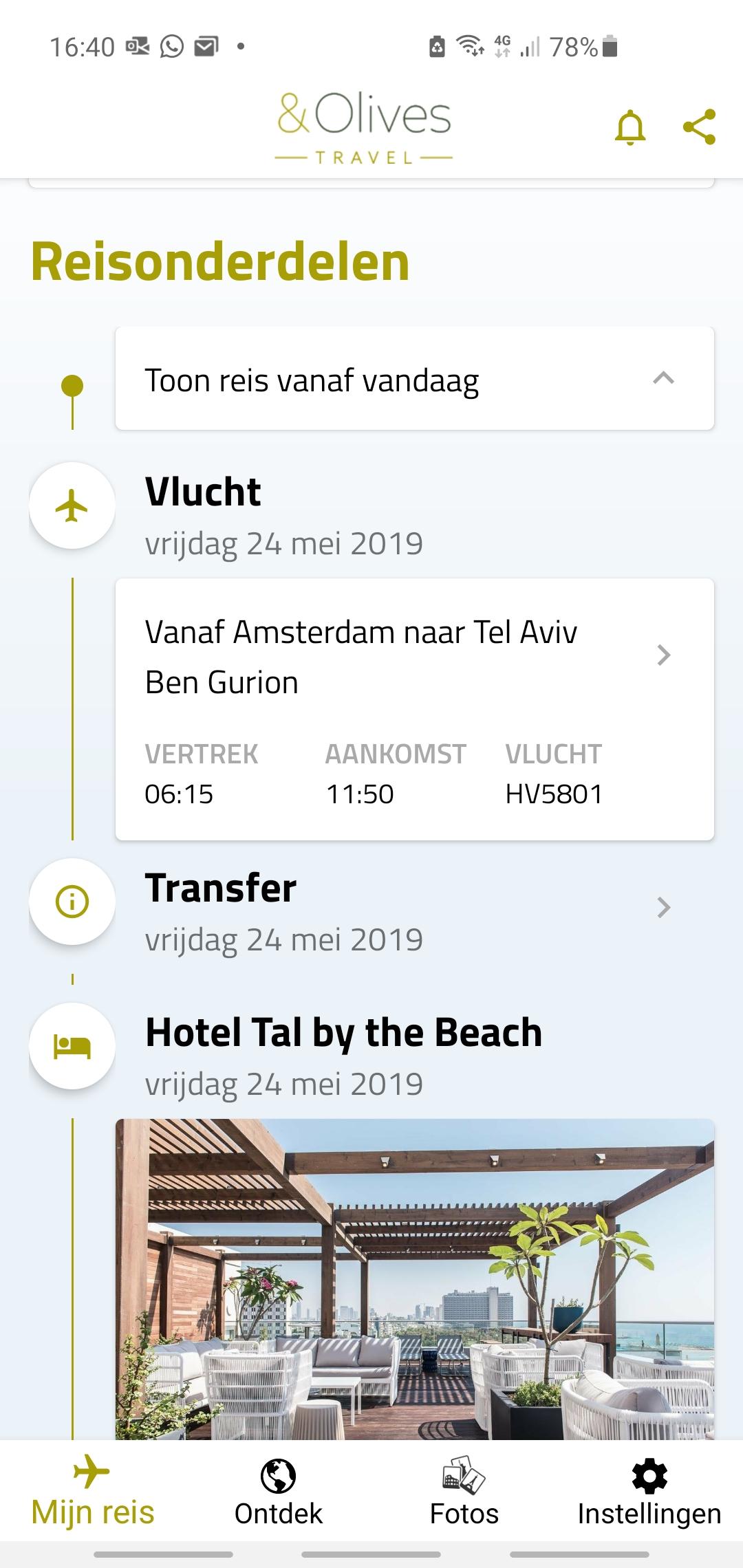 Reisapp reisinfo &olives