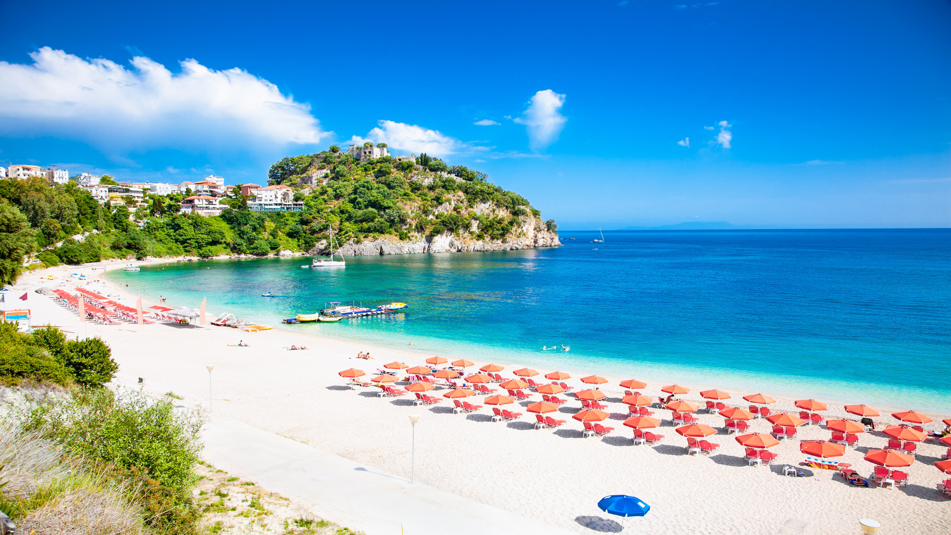 Valtos Beach, Parga, Epirus, Griekenland