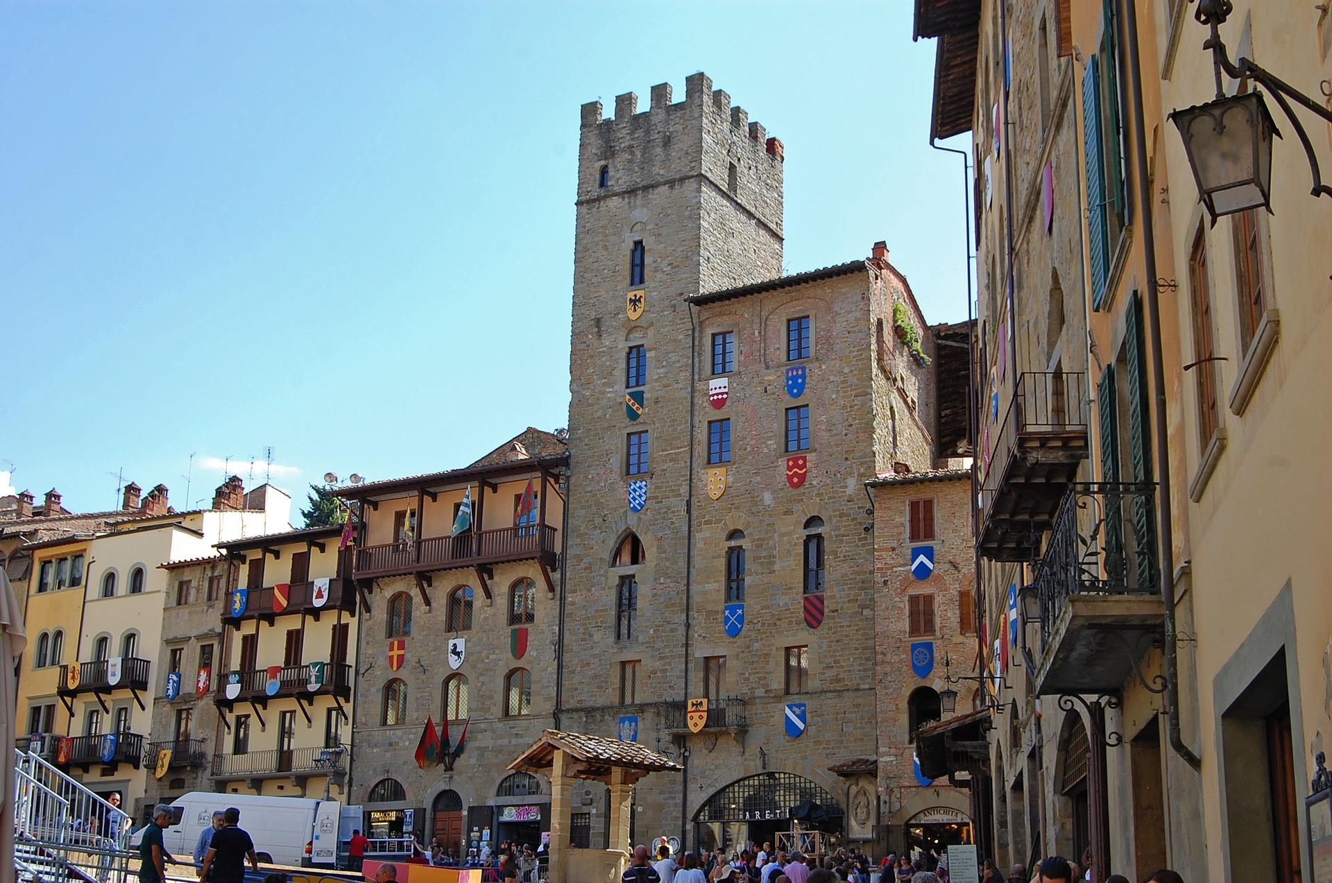 Historisch Piazza Grande Arezzo Toscane