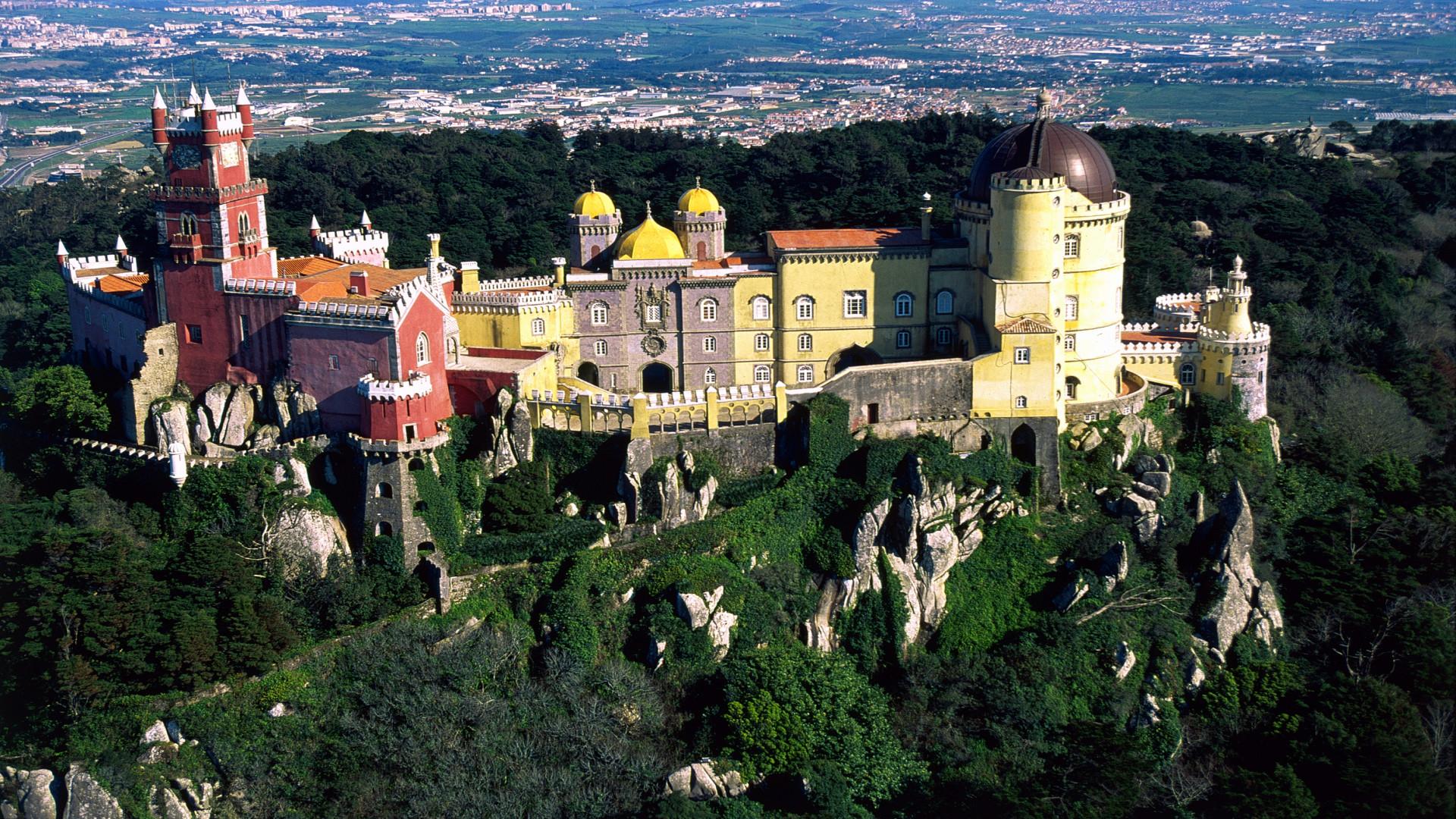 Sintra van bovenaf gezien, Lissabon kust, Portugal