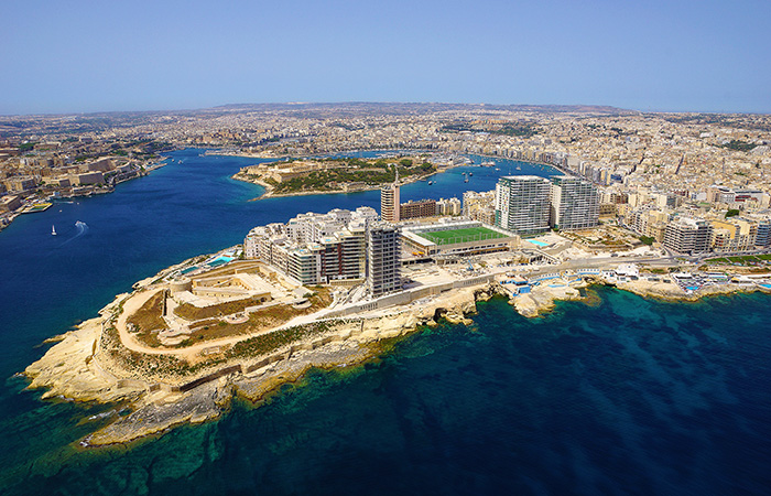 Sliema, aerial-view, vanuit de lucht, Malta