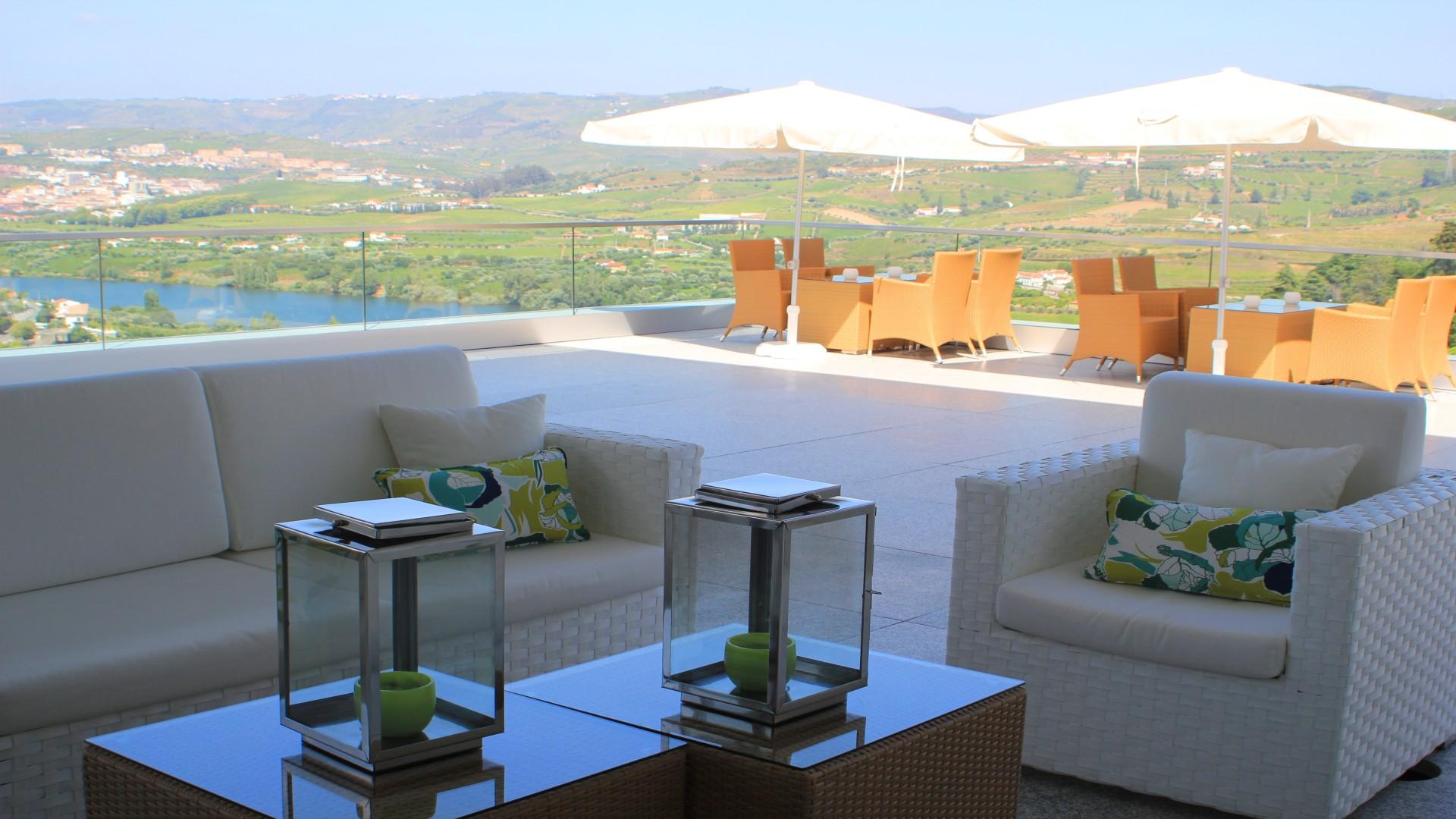 Terras hotel Delfim Douro, Lamego, Noord Portugal