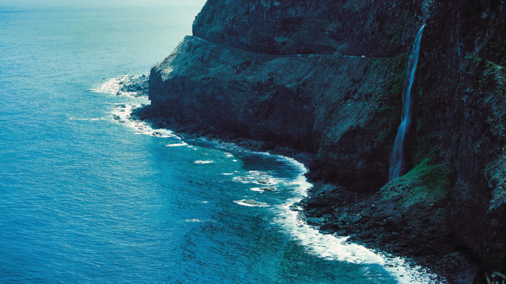 Zee en rots, Porto Moniz, Madeira, Portugal