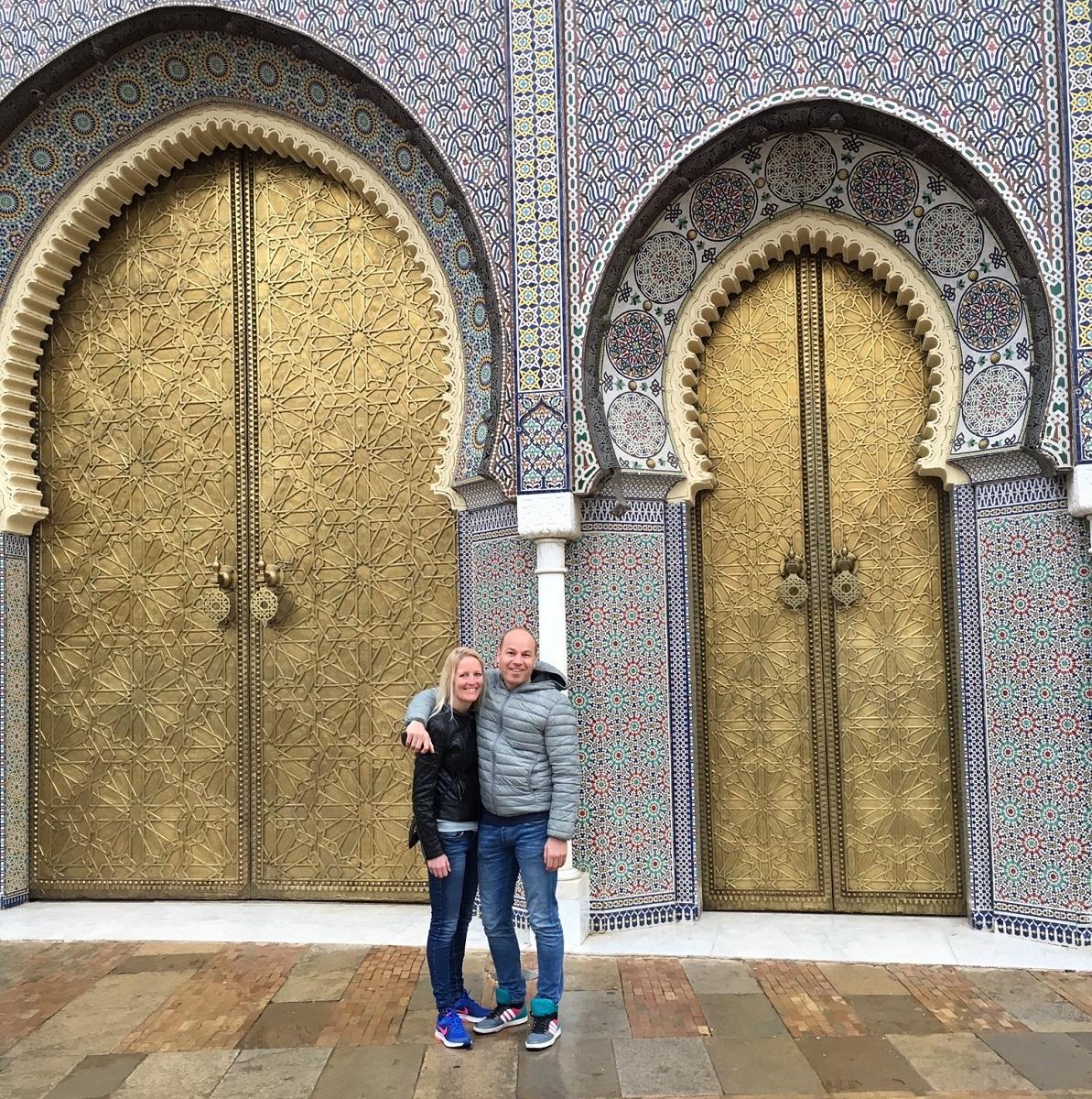 Leonie en René in Fès, Marokko