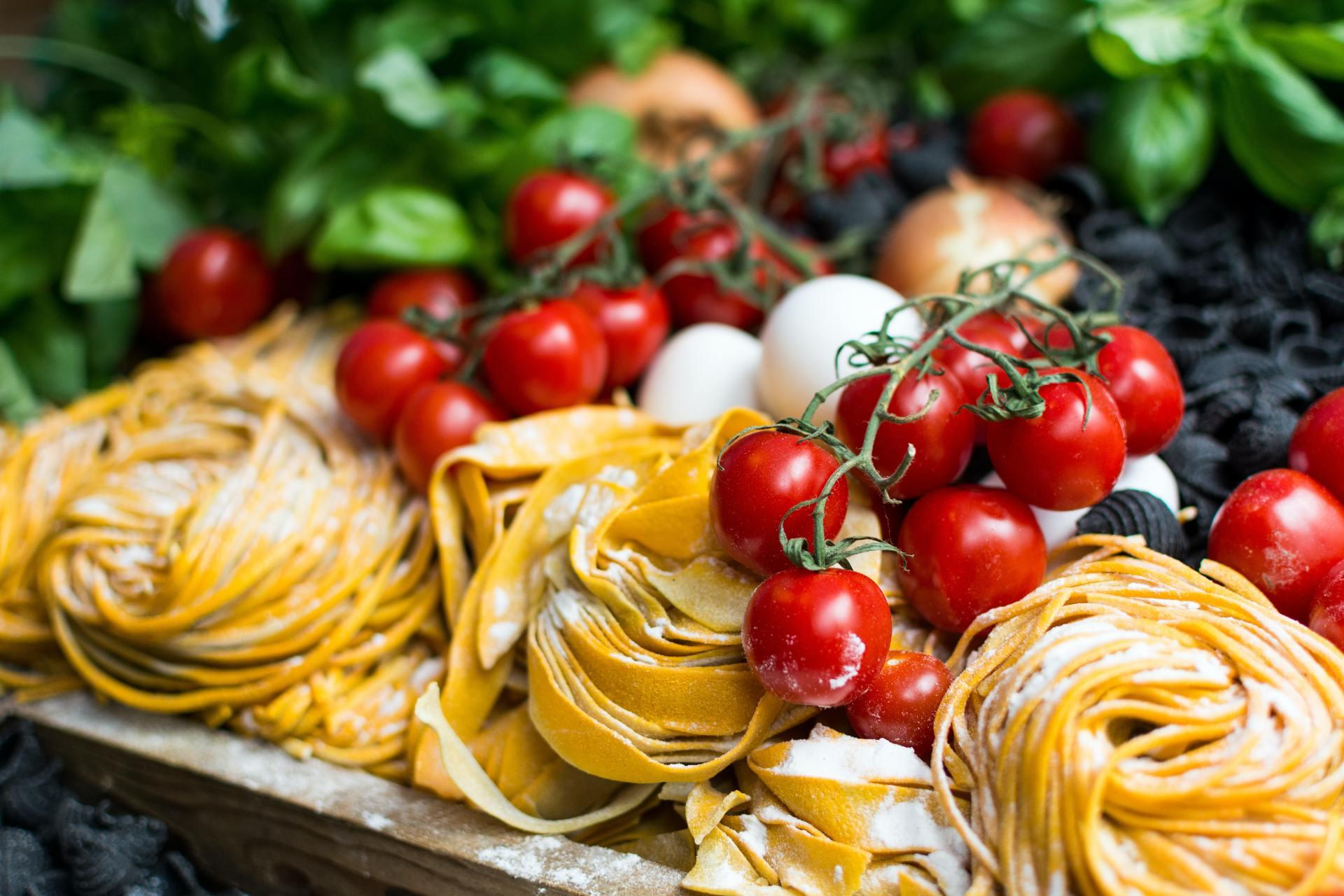 Italiaanse pasta met pomodori