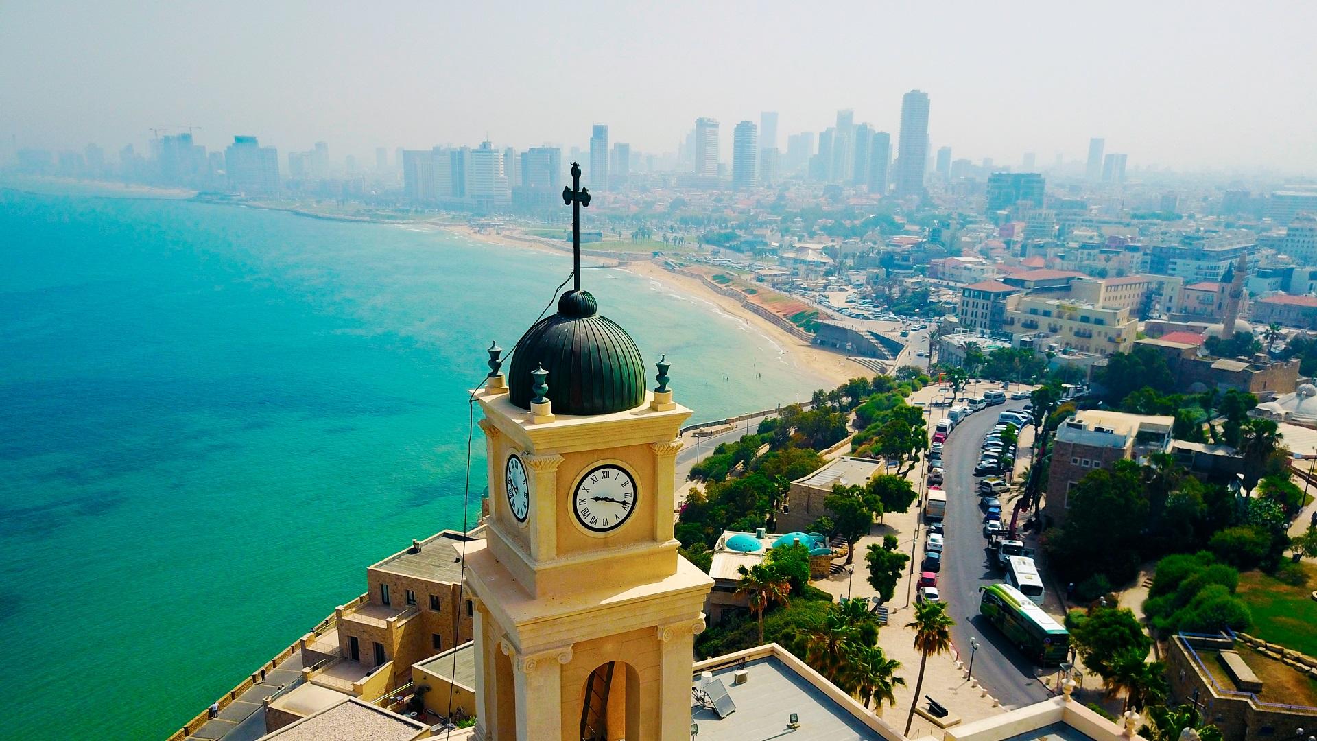 De bruisende stad Tel Aviv in Israël