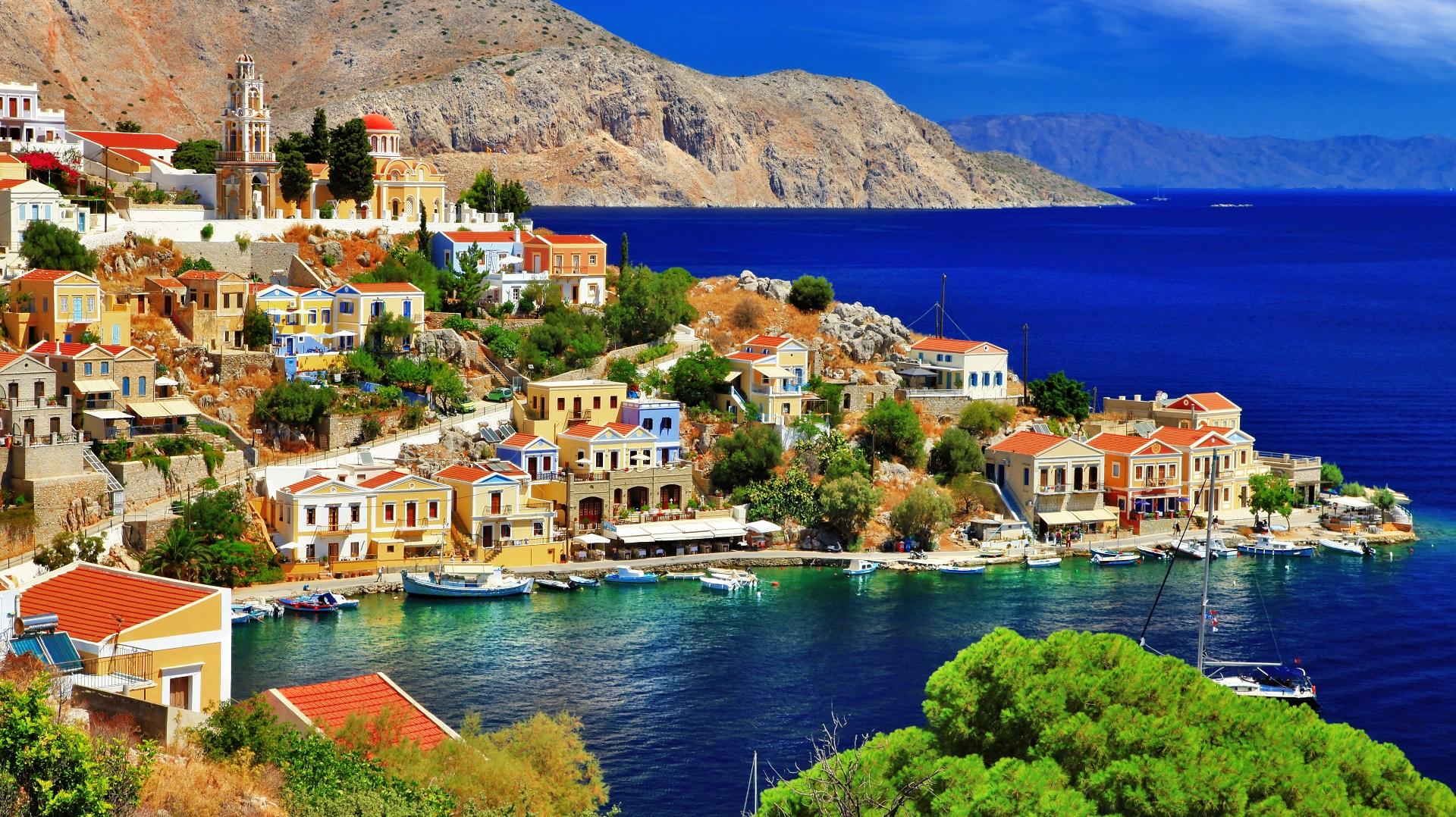 Een prachtige haven met mooie kleuren
