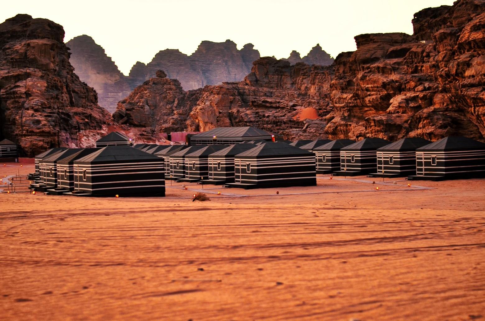 Tentenkamp Wadi Rum, Jordanië