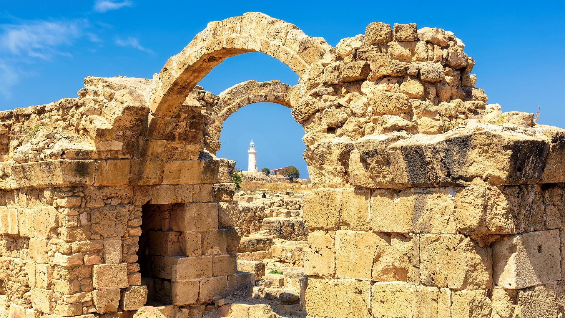 Oudheden in Paphos, Cyprus