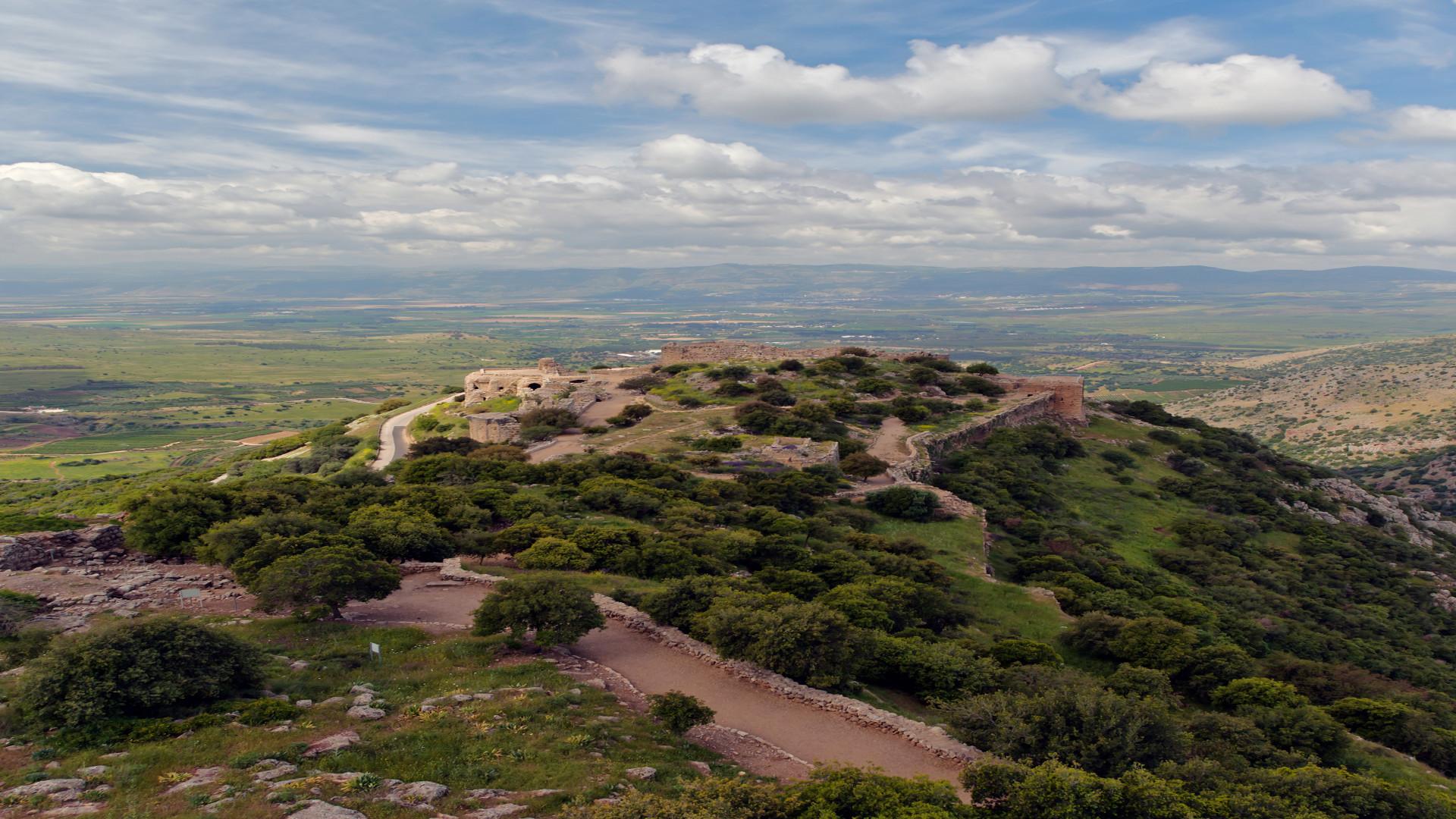 Nimrod fortress, Golan hoogvlaktes, Israël