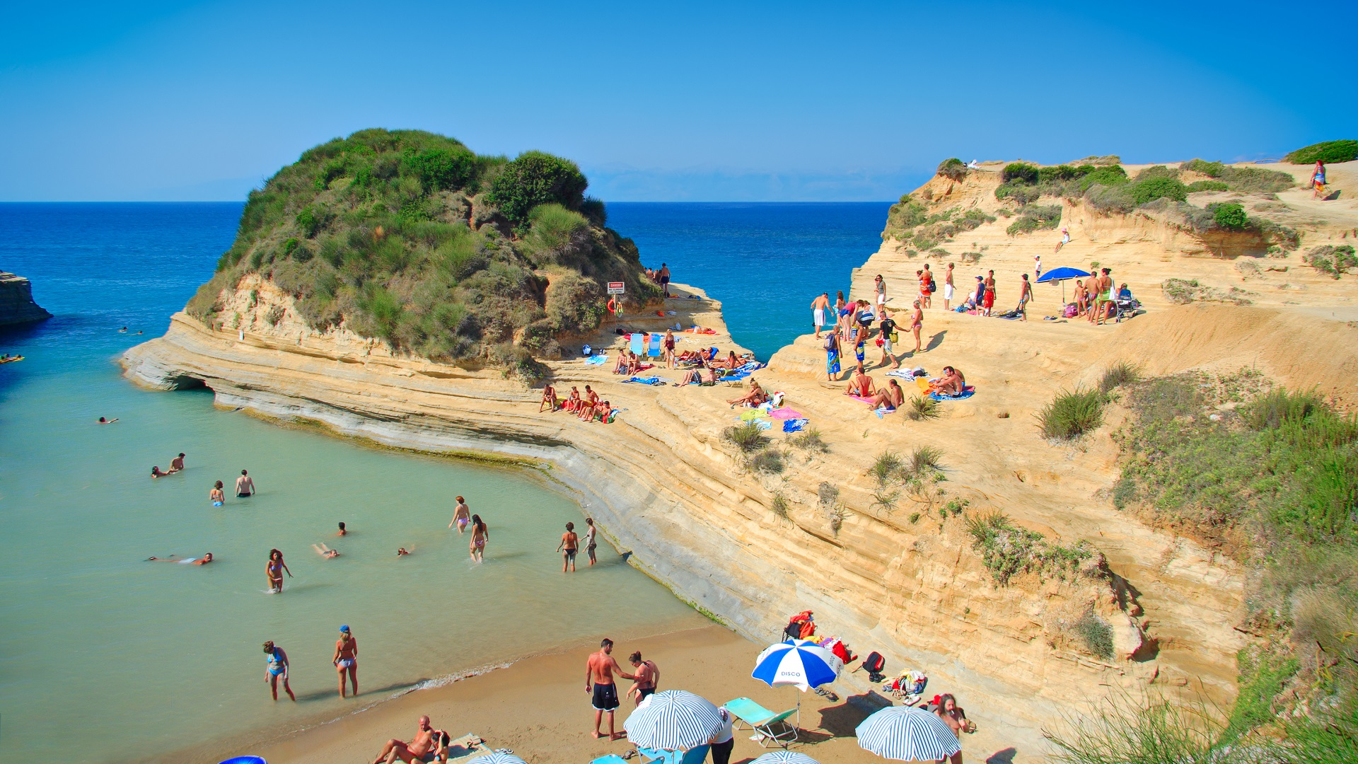 Canal d'Amour strand op Corfu