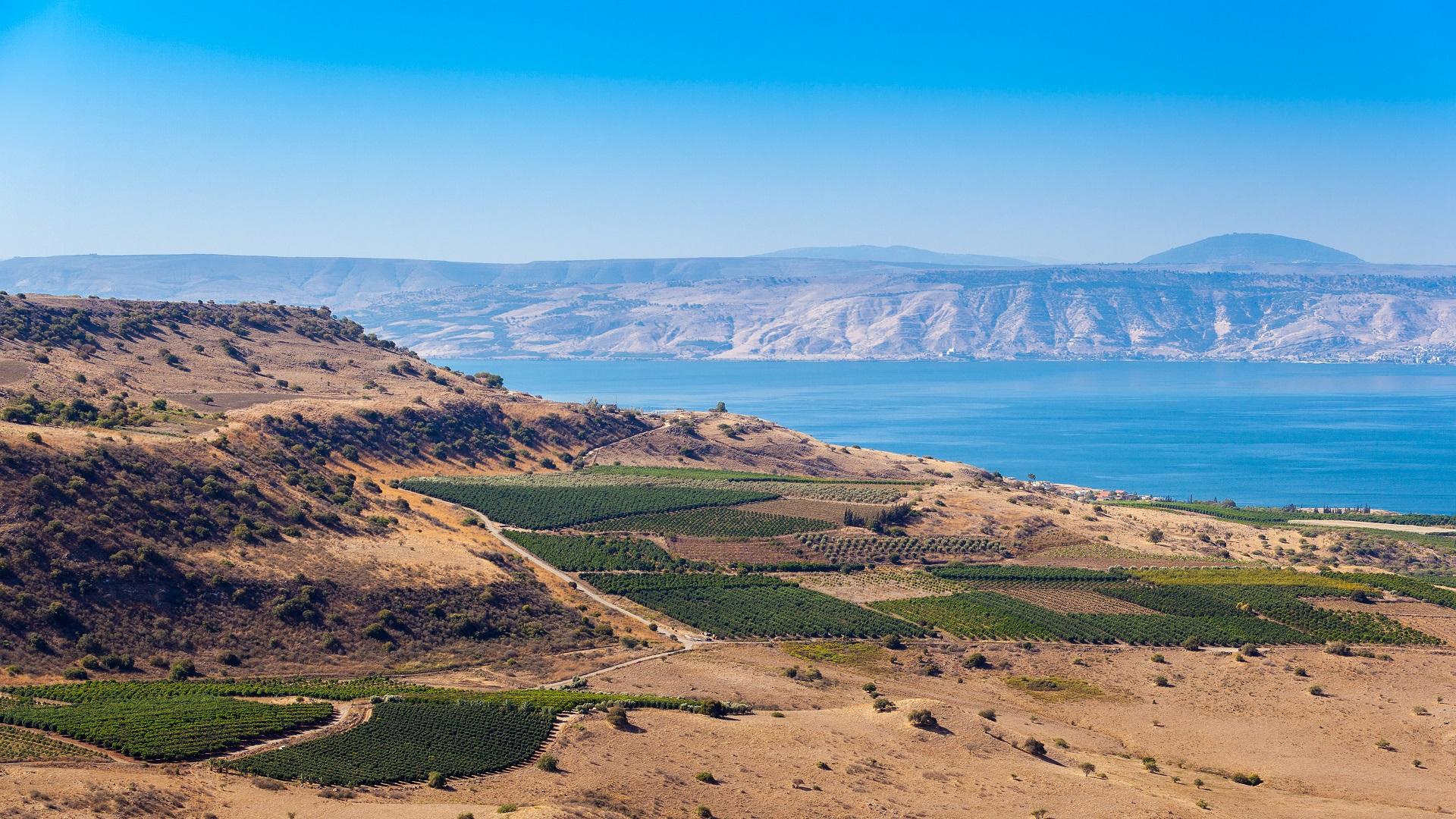 Het meer van Galilea in Israël