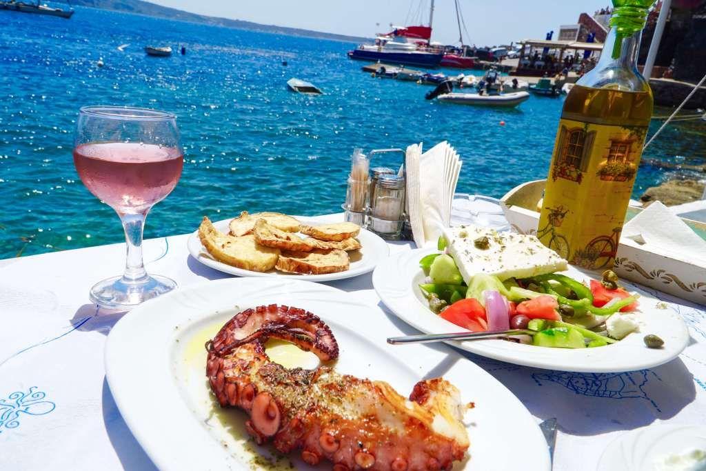 Griekenland Santorini - restaurant
