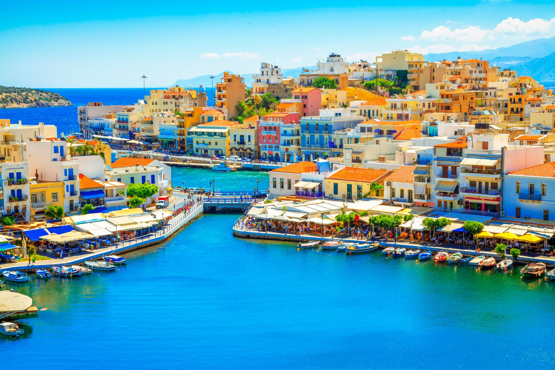 Haven van Agios Nikolaos op Kreta