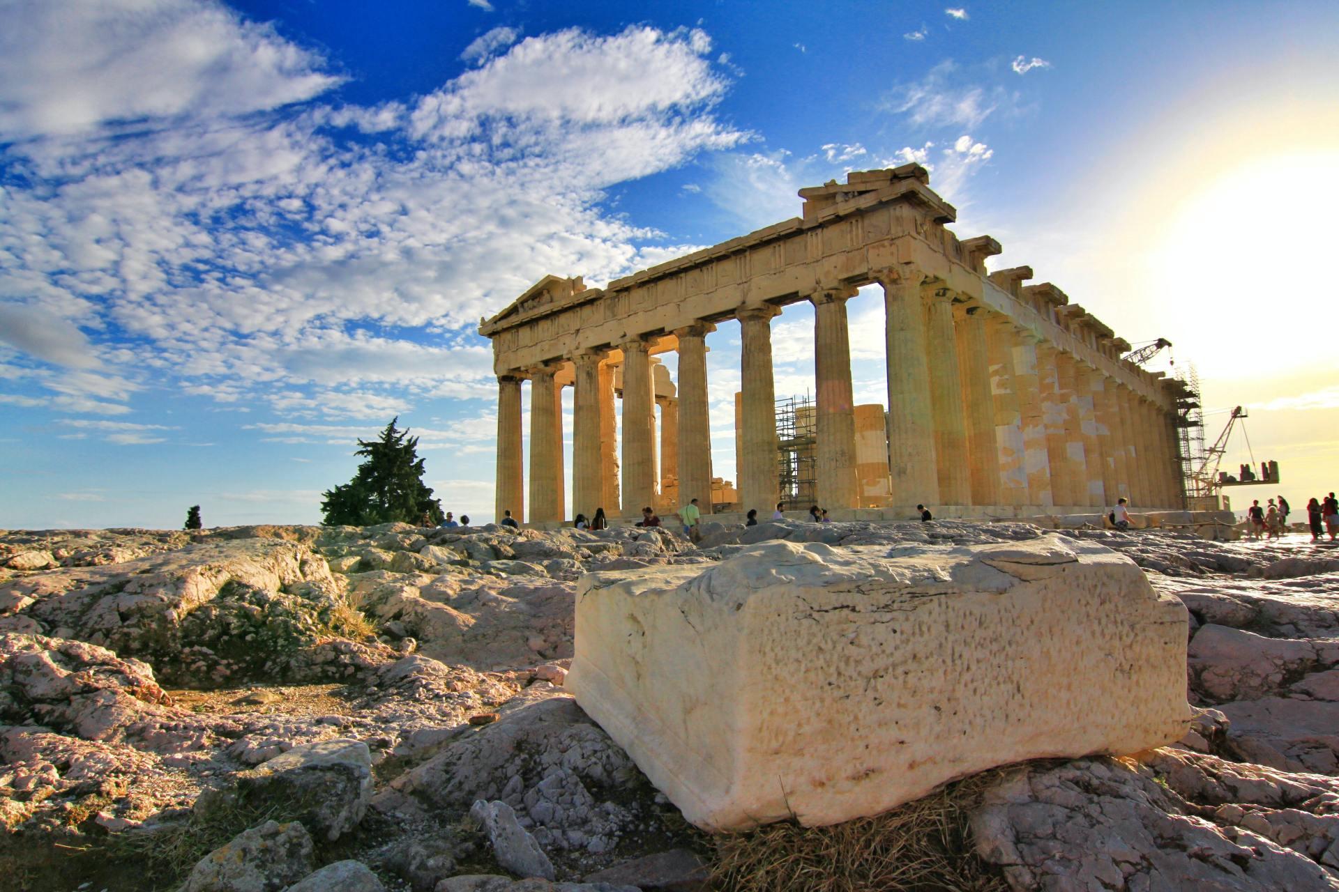 Parthenon, Akropolis in Athene, Griekenland