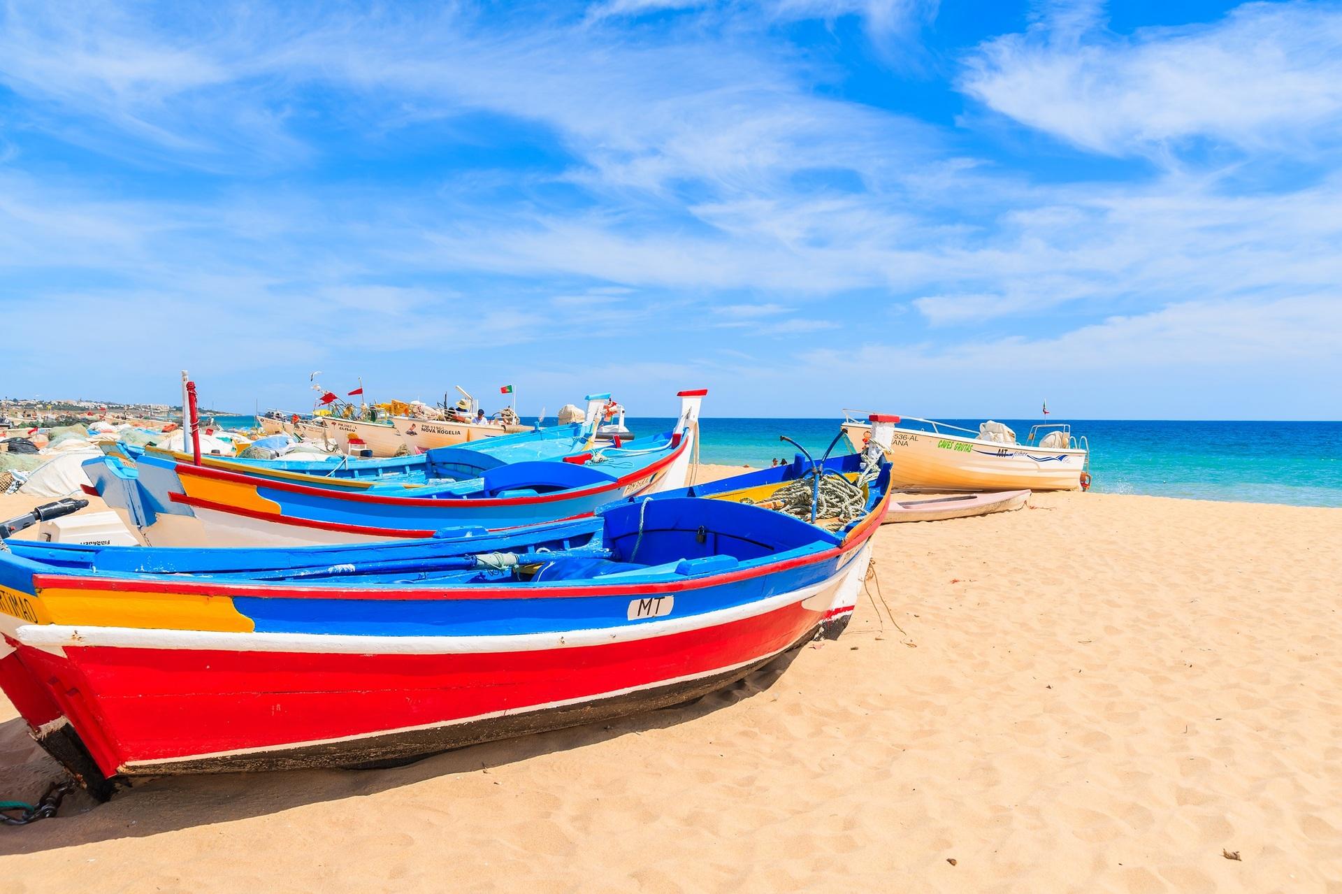 Portugal kleurrijke vissersboot