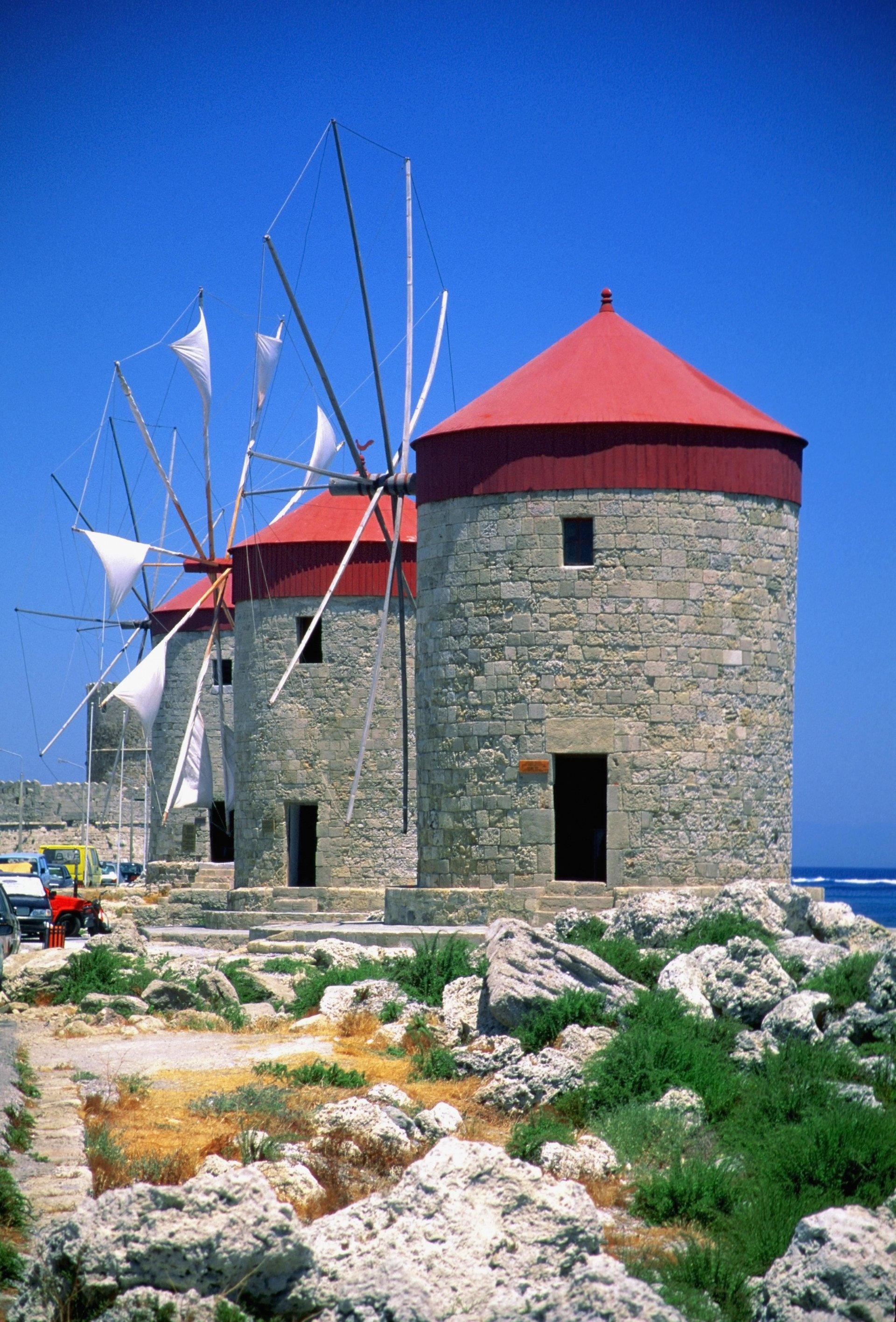 Windmolens Mandraki haven