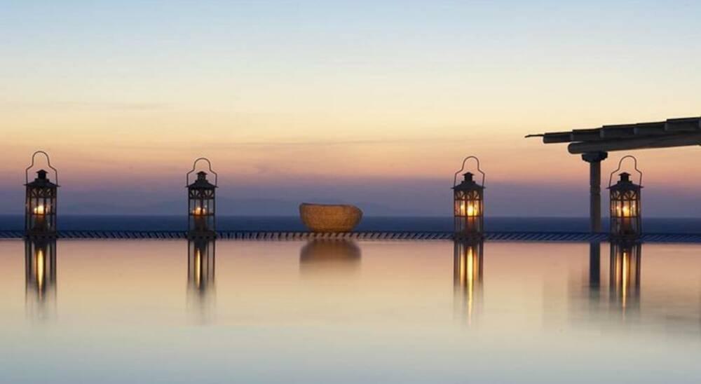 Porto Mykonos - zonsondergang