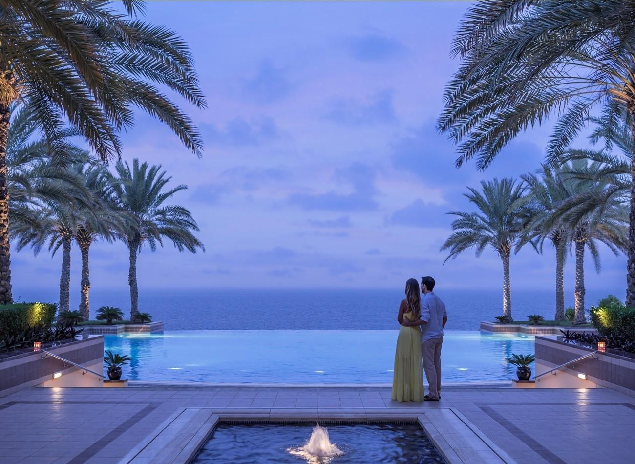 Hotel Shangri-La Al Husn bij de infinity pool - Muscat