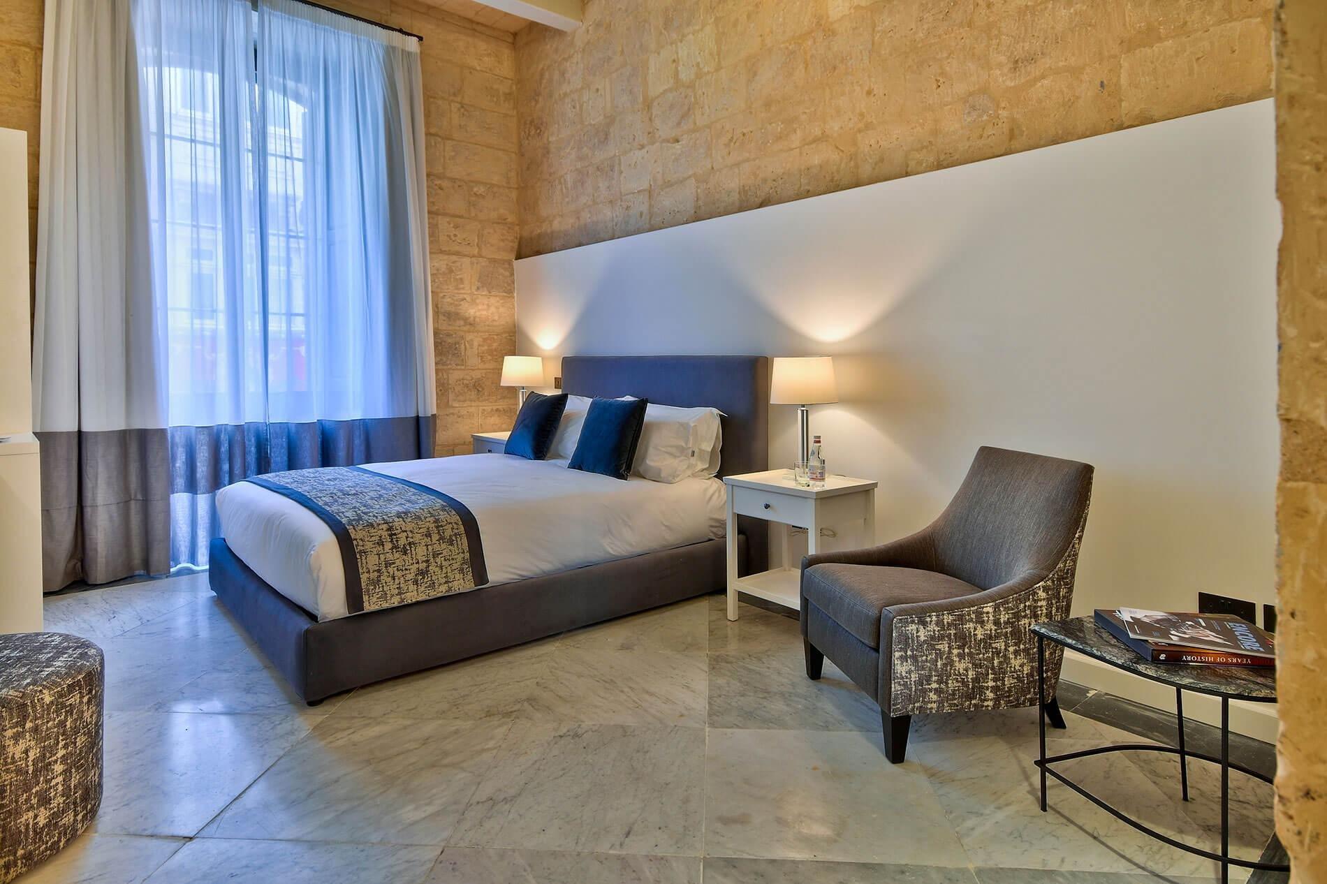 66 St. Paul's Hotel & Spa luxe kamer stadszicht - Valletta