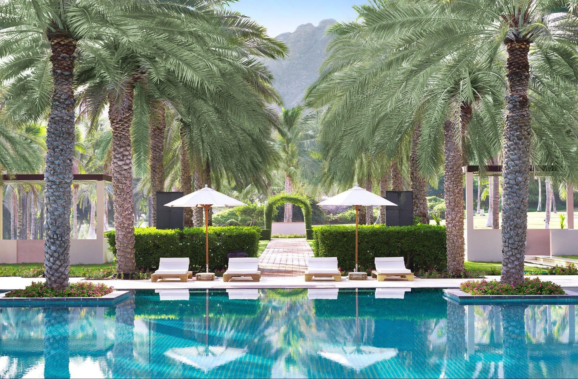 Hotel Al Bustan Palace zwembad - Muscat