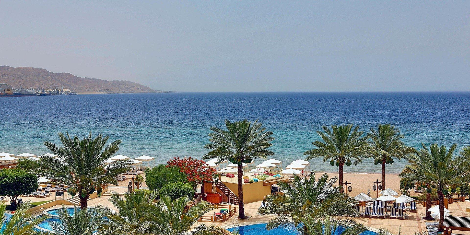 Strand bij hotel Intercontinental Aqaba - Aqaba