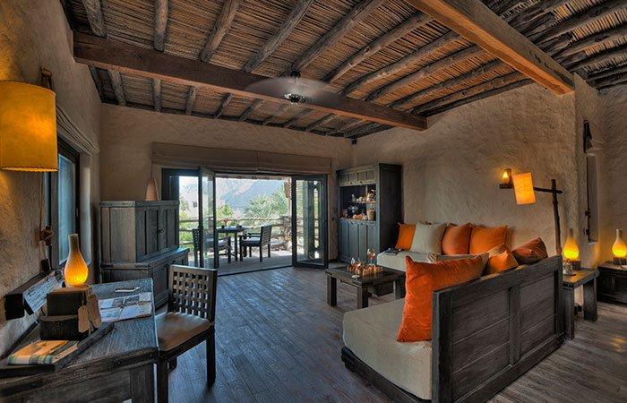 Hotel Six Senses Zighy Bay pool villa lounge - Musandam