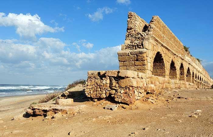 Aquaduct in Caesarea