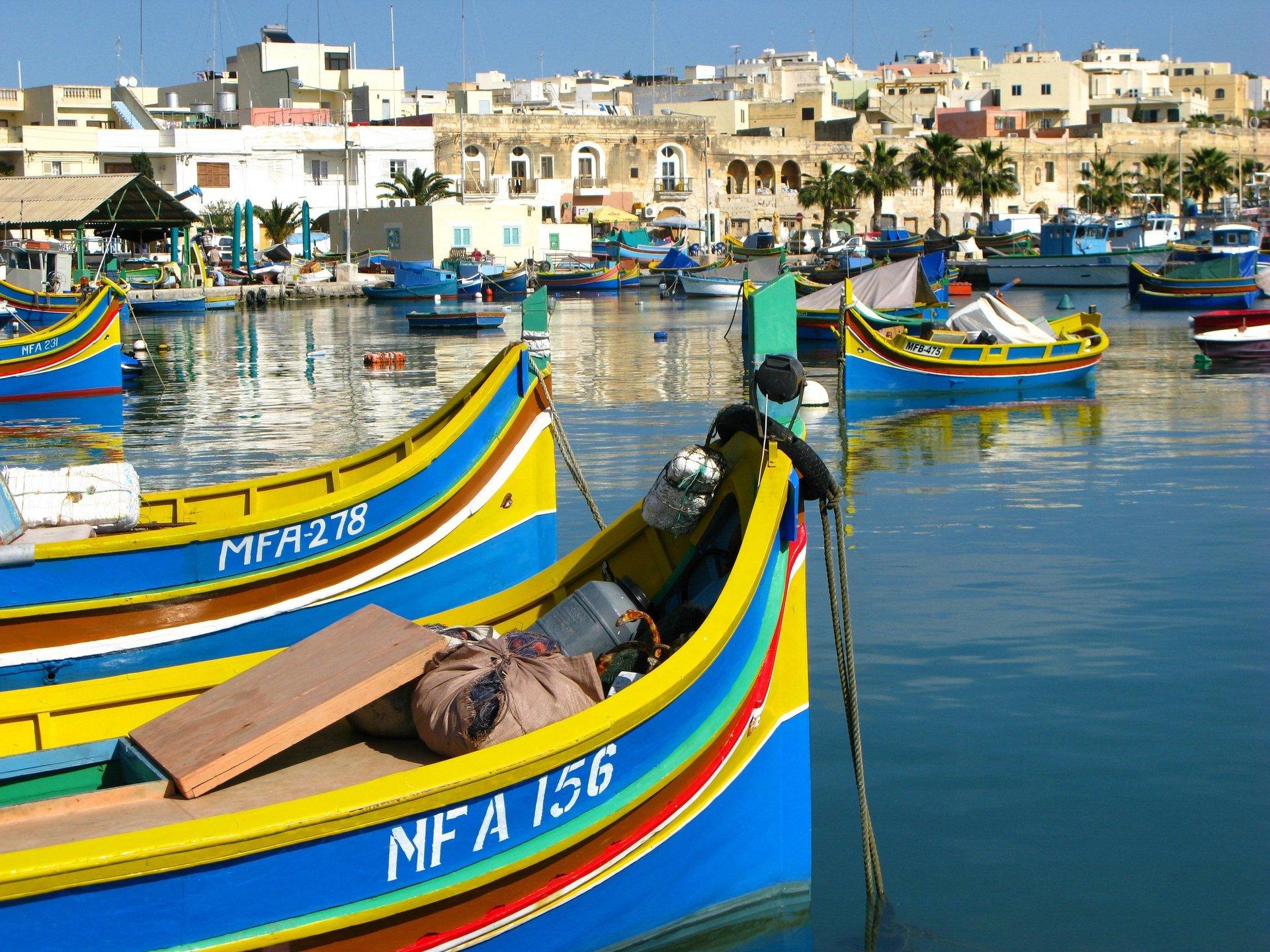 Traditionele boten in Marsaxlokk - Malta