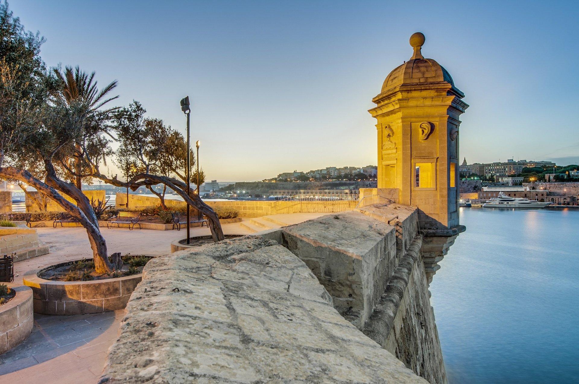 Wachttoren Fort Saint Michael in Senglea - Malta