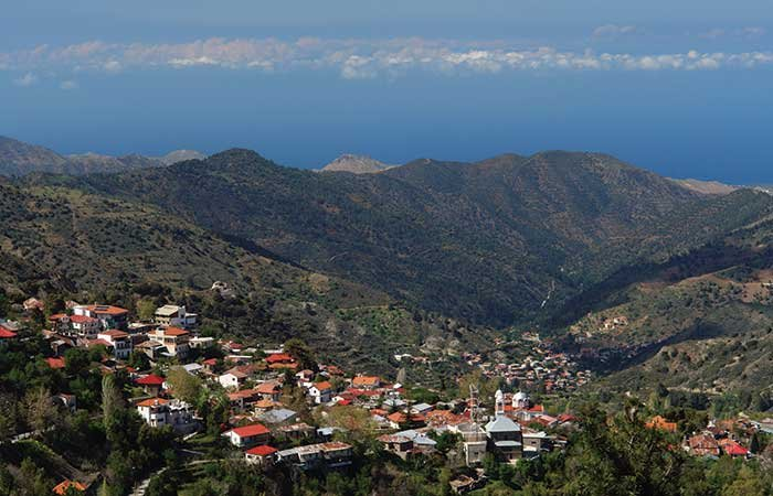 Dorp in Troodos - Cyprus