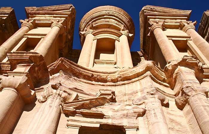 Het klooster in Petra - Jordanië