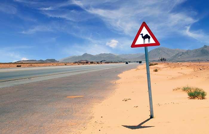 Verkeersbord Jordanië