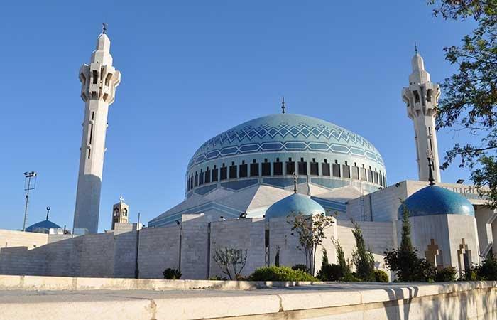 King Abdullah moskee in Amman - Jordanië