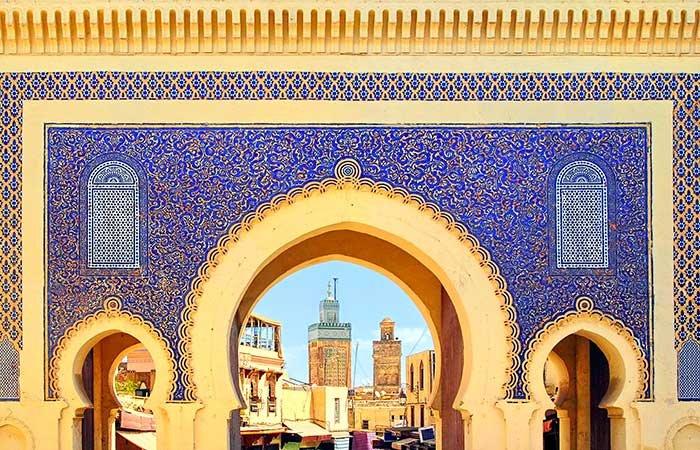 Poort Bab Boujloud Fes - Marokko