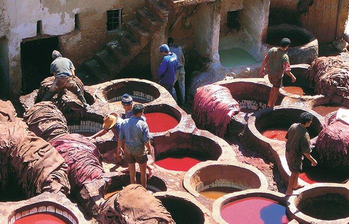 Verfbaden Fes - Marokko