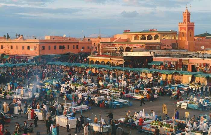 Djemaa el Fna plein Marrakech - Marokko