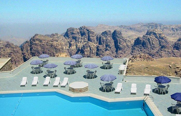 Hotel Petra Panorama zwembad en uitzicht - Petra